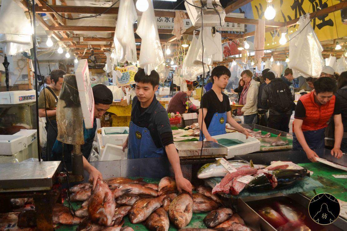 Marché-Tsukiji-Tokyo-Japon-Etales-poissons-1110x740